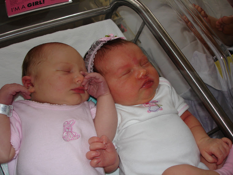 This was the first time she met Baylee at the hospital!