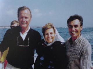 Cavaco com Bush no Maine