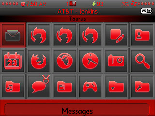 Taurus Icon Screen Taurus Theme 9650 & 9630