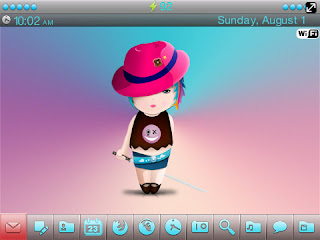 Little Samurai Girl BlackBerry Theme Little Samurai Girl 9630