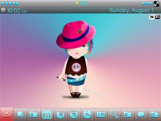 Little Samurai Girl BlackBerry Theme Little Samurai Girl 9630