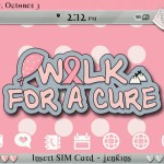 Walk for the Cure BlackBerry Themes 150x150 Breast Cancer Support BlackBerry Themes