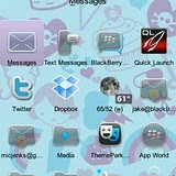 Zombie Girl Cute Institute BlackBerry Themes 3 RED Precision Zen themes for BB 81xx,83xx,88xx