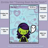 Zombie Girl Promo RED Precision Zen themes for BB 81xx,83xx,88xx
