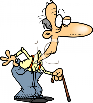 Life Philosophy 101 for the squirrelly senior citizens: August 2010 Old Man Walking Cartoon