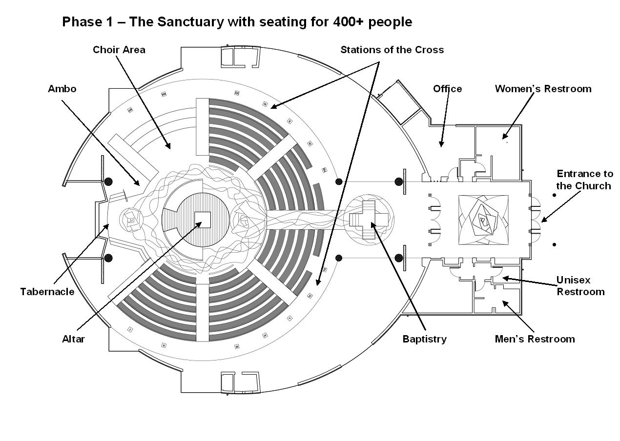Churches floor plans find house plans for Church floor plan designs