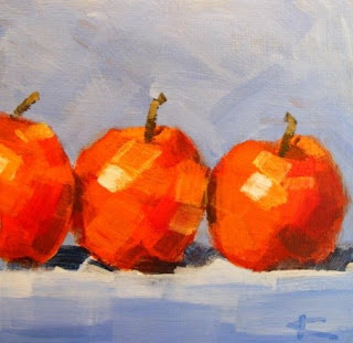 Red apples painting