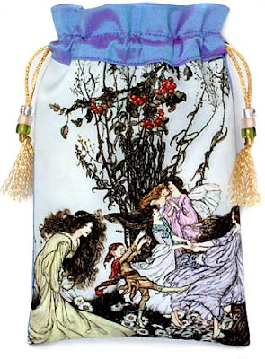 Fairies Dancing. Tarot bag based on Arthur Rackham picture