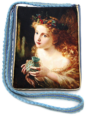 Fairytale shoulder bag in satins and silk, by Baba Studio