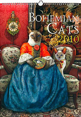 Bohemian Cats Calendar 2010, from Baba Studio, Prague.