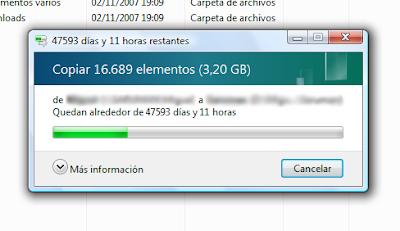 ¡¡ Velocidad punta: 0,8 bytes/s !!