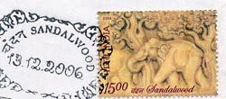 Indian Postal Stamp with Sandalwood Fragrance