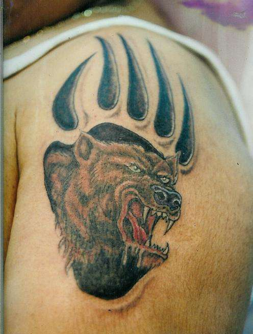 Sean Ohara - Grizzly Bear Cover Up. Tattoos bear tattoos