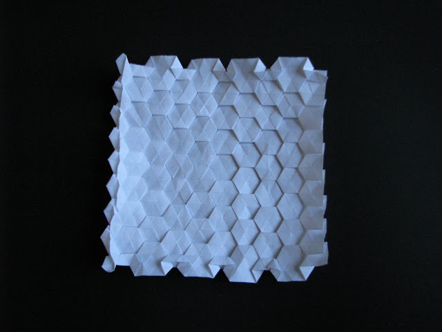 Eric Gjerde White Spread Hexagon Tessellation reverse side