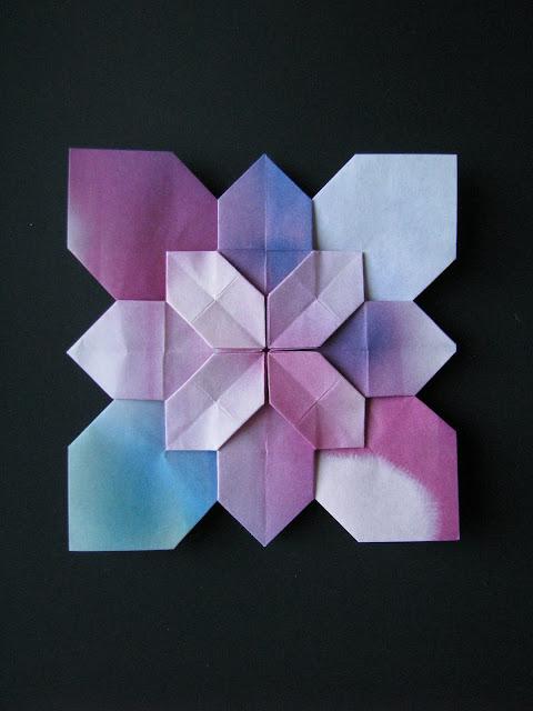 Shuzo Fujimoto Blue and Purple Hydrangea Tessellation
