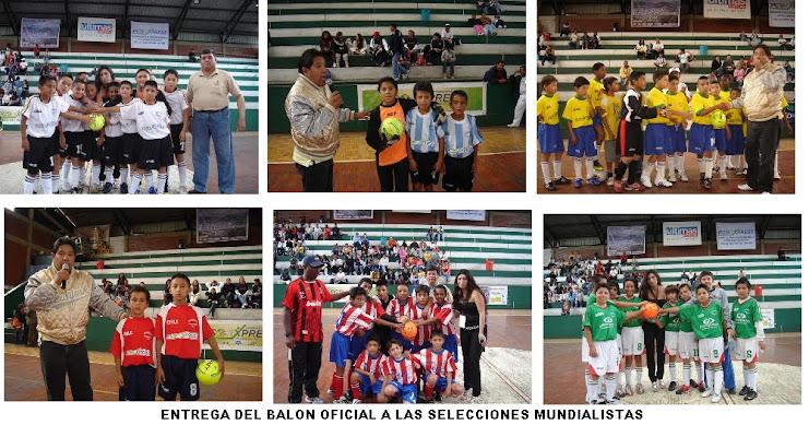 ENTREGA DEL BALON OFICIAL de BABY FUTBOL ¨GOLTY ¨