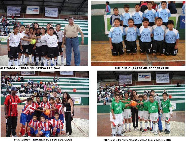 ALEMANIA - URUGUAY - PARAGUAY  - MEXICO CLASIFICARON  A LA SEMIFINAL DEL MUNDIALITO 2010