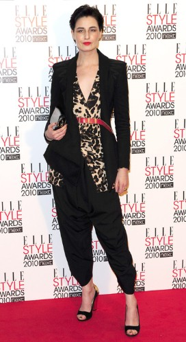 Erin O Connor wearing my AW2010 Jacket at the elle style awards