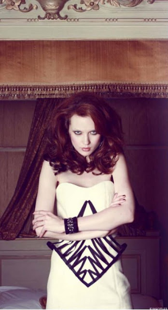Fiasco Magazine featuring my AW2010 white dress 'CAGE'