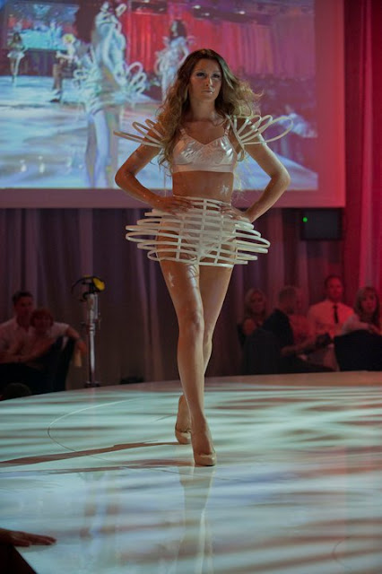 Cage Dresses i made for L'Oreal Show.. Worn By all britains next top model girls.