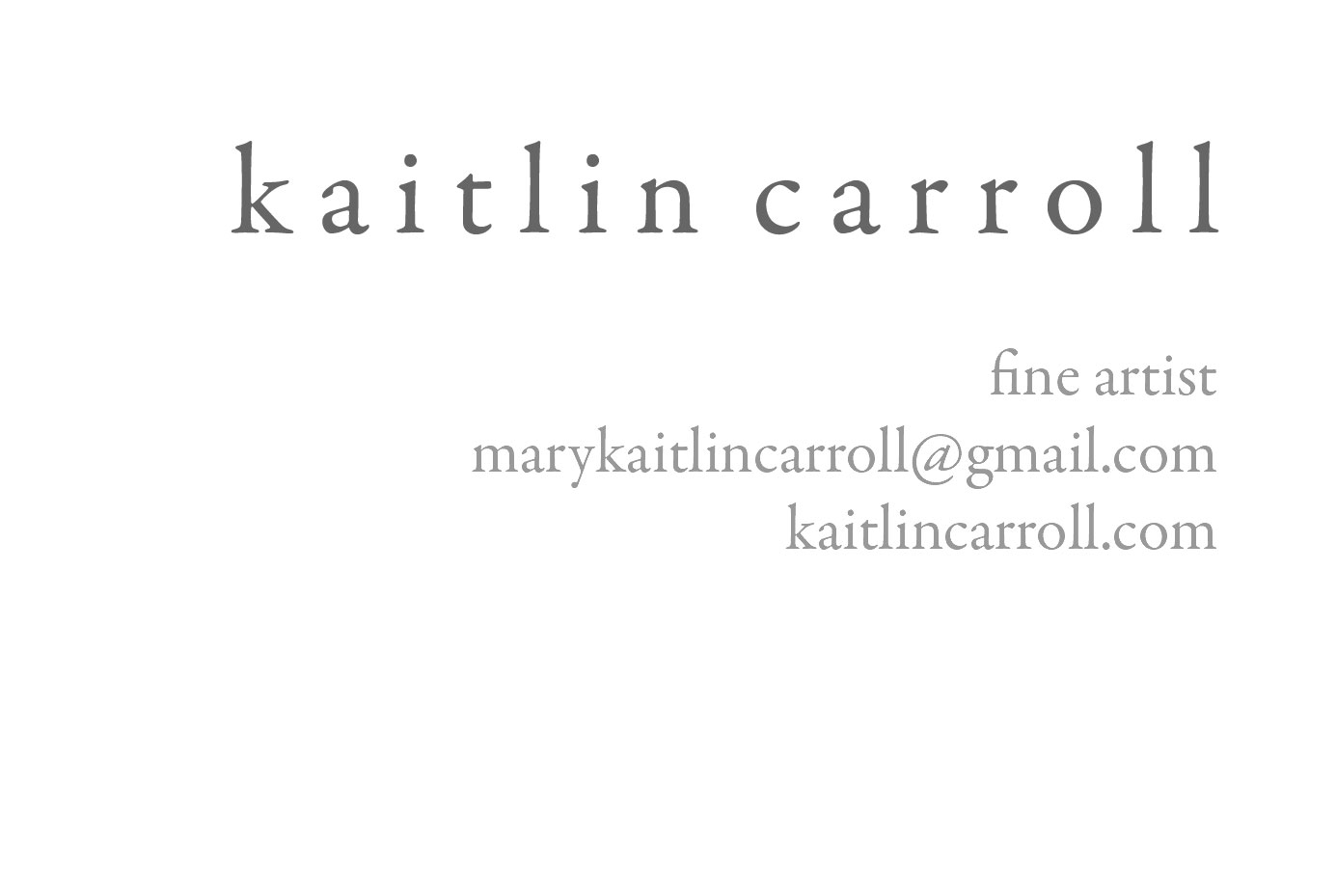 kaitlin carroll: Fine Art Business Cards