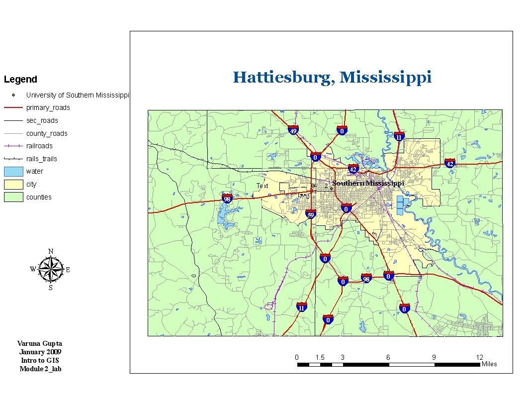 base map for hattiesburg mississippi