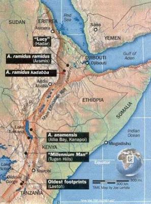 Yann Klimentidis Weblog Monday Map Great Rift Valley - Africa map great rift valley