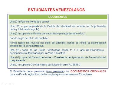 Documentos para Venezolanos