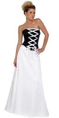 Vestidos de 15 negro con blanco