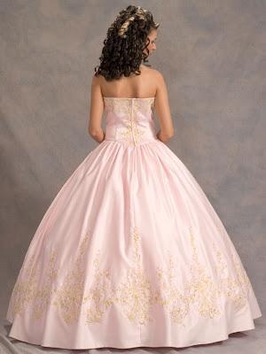 Vestido de 15 años - Color rosa/oro