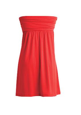 Vestidos/Strapless - Color Rojo