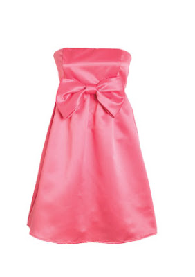 Vestido/Strapless - Color Rosado