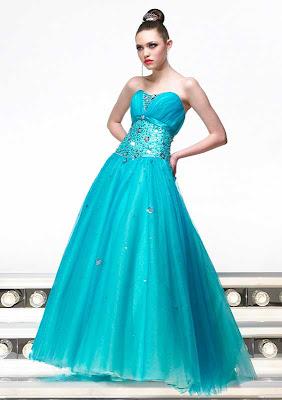 Vestido de 15 años - Color Celeste/Turquesa