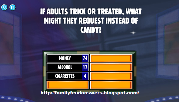 facebook family feud answers if adults trick or treated. Black Bedroom Furniture Sets. Home Design Ideas