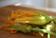 Stuffing Squash Blossoms