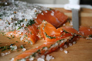 Salt Curing Salmon