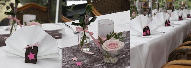 tauf dekoration in braun rosa. Black Bedroom Furniture Sets. Home Design Ideas