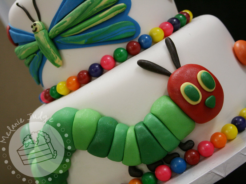Very Hungry Caterpillar Butterfly Cake this little caterpillar
