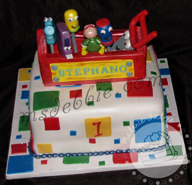 Cake walk handy manny cake for Handy manny decorations