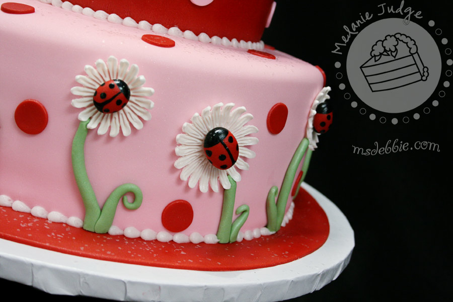 Cake Walk Lady Bug 1st Birthday Cake Cookies