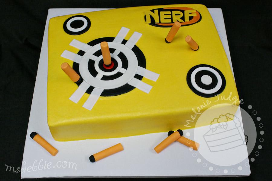 nerf dart birthday cake