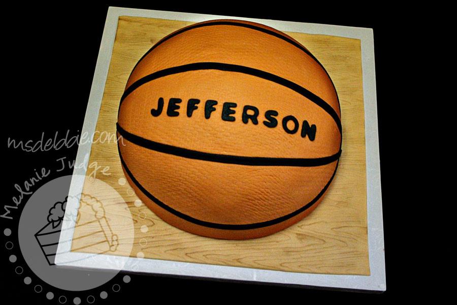 basketball grooms cake