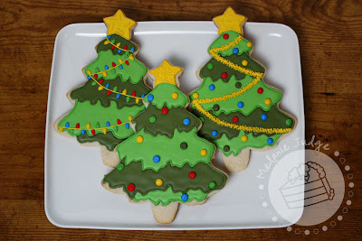 christmas tree sugar cookie royal icing