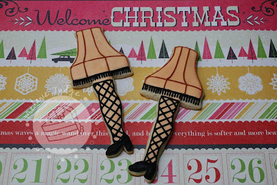 leg lamp sugar cookie royal icing christmas story