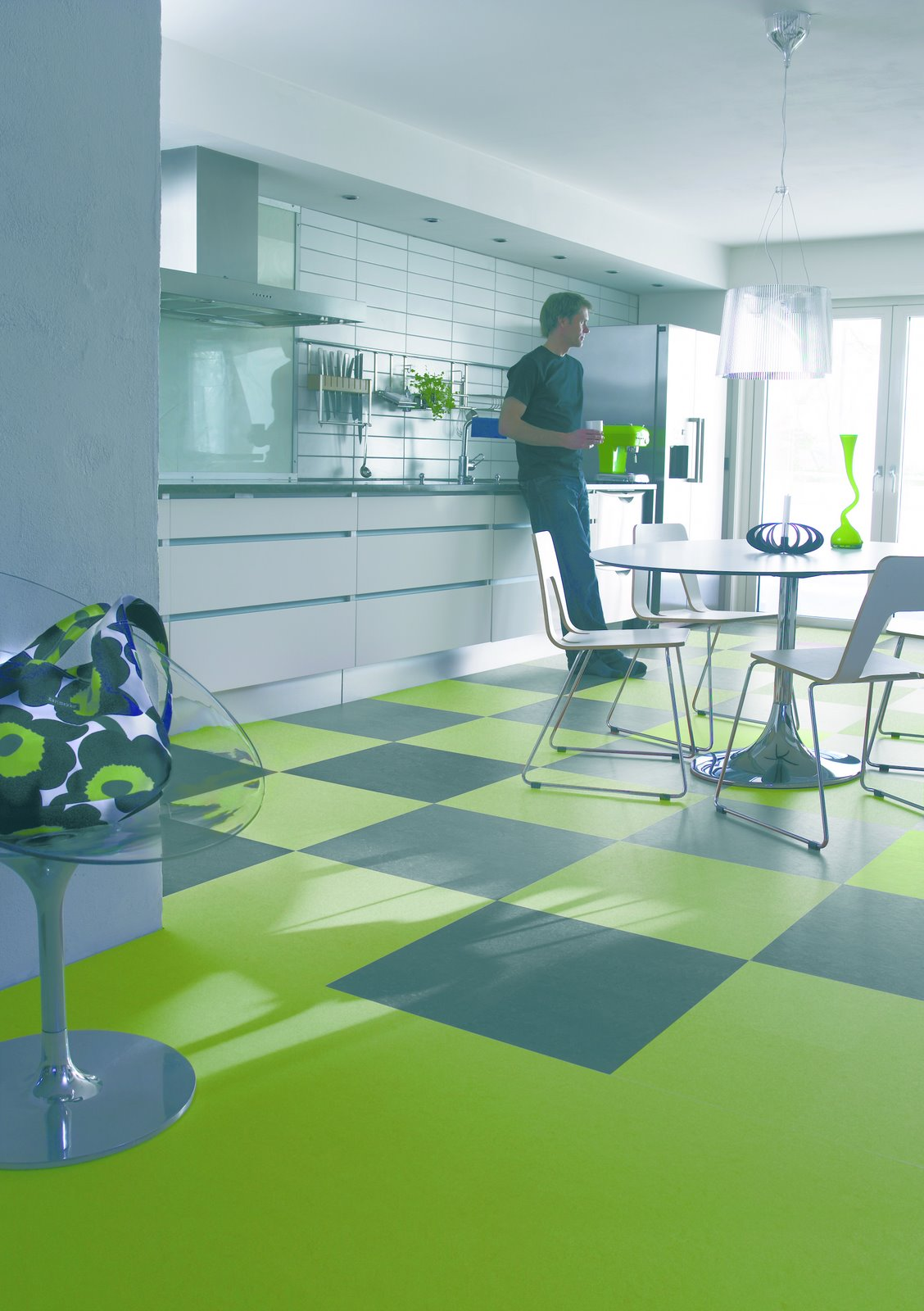 Natural flooring linoleum for Modern linoleum flooring