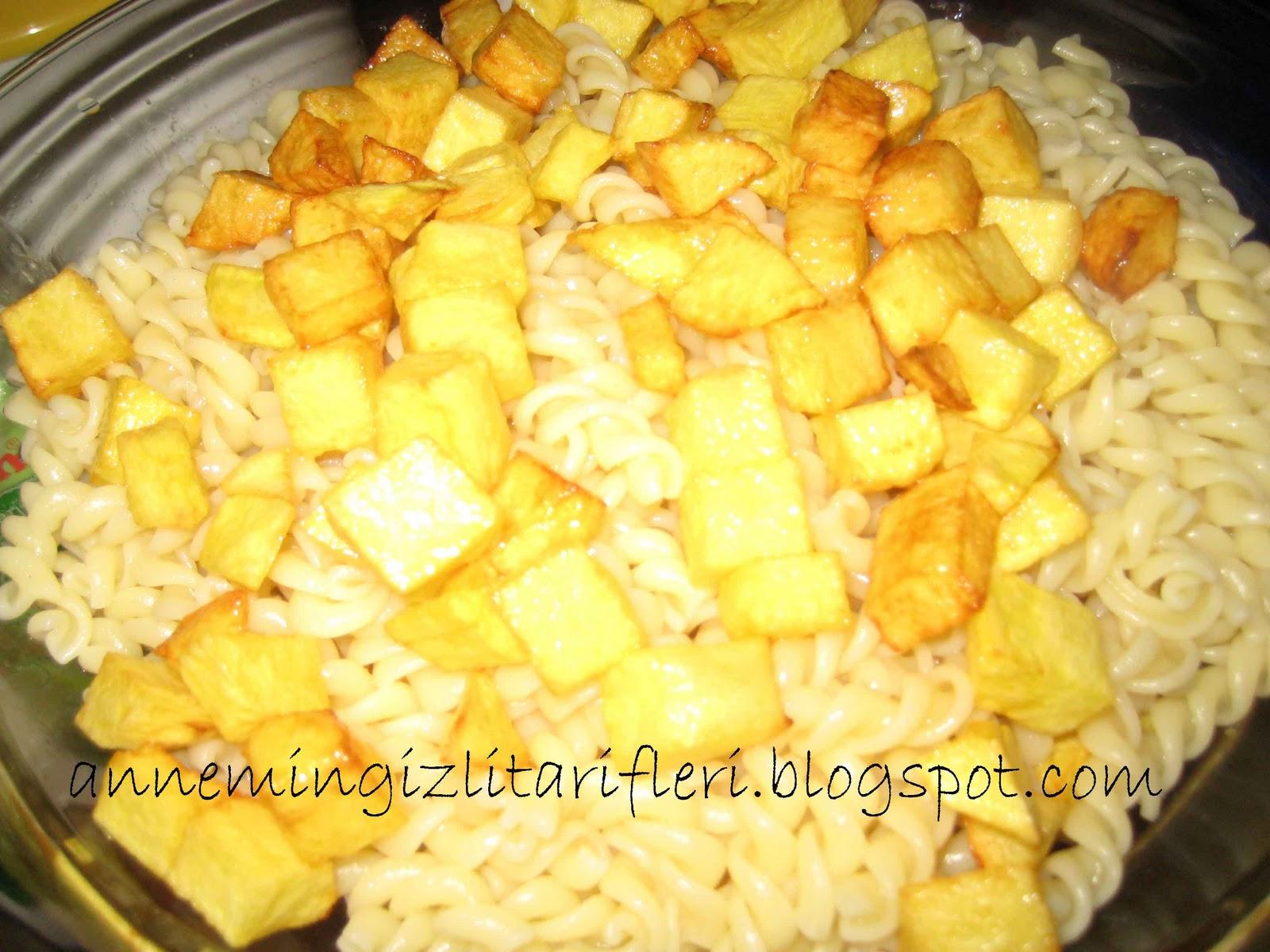 Patatesli Makarna Tarifi