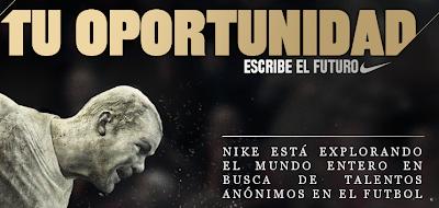 Nike futbol promocion mexico 2010 Nike Academy tu oportunidad Escribe el futuro