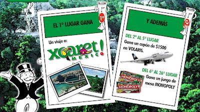 premio promocion Monopoly Mexico 2010 viaje Xcaret Cancun