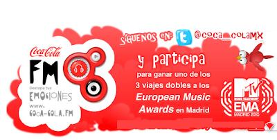 promocion Coca-Cola y MTV te llevan volando a la Ciudad de Madrid