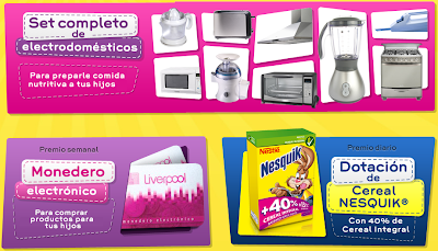 premios promocion Promoción De mamá a mamá secretos de nutrición de Nesquik Nestle